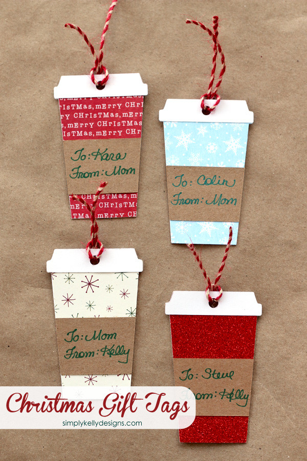 Best ideas about Christmas Gift Tags DIY . Save or Pin Coffee or Latte Container Christmas Gift Tags With Free Now.