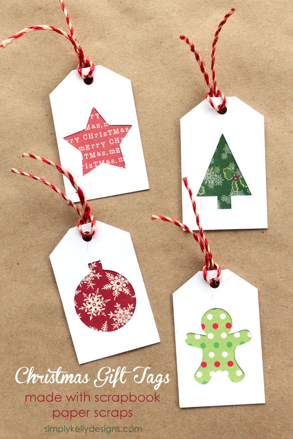 Best ideas about Christmas Gift Tags DIY . Save or Pin DIY Christmas Gift Tags With Scrapbook Paper Scraps And Now.