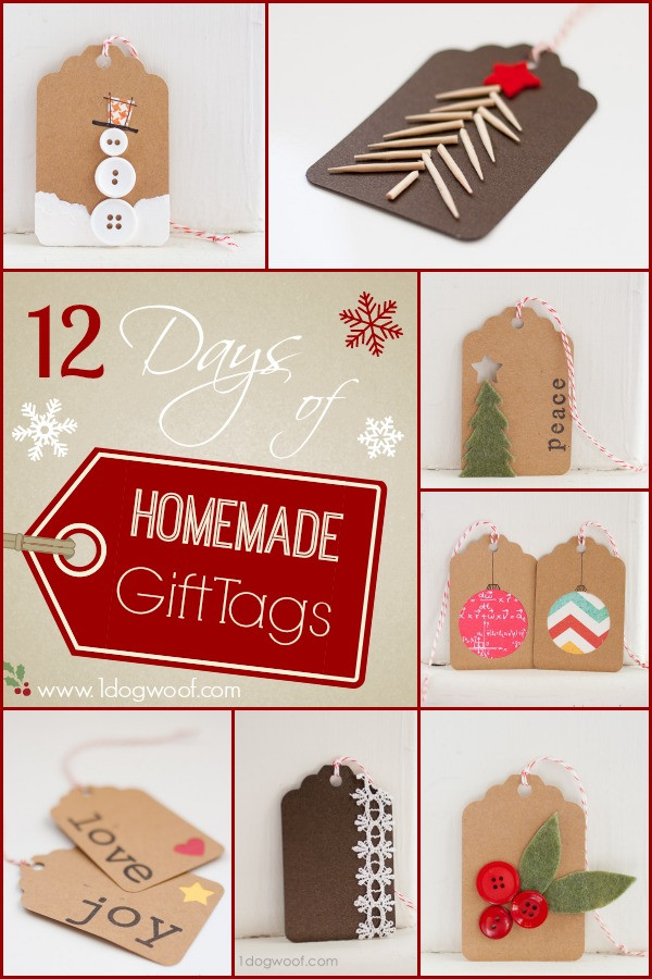 Best ideas about Christmas Gift Tags DIY . Save or Pin 12 Days of DIY Christmas Gift Tags e Dog Woof Now.