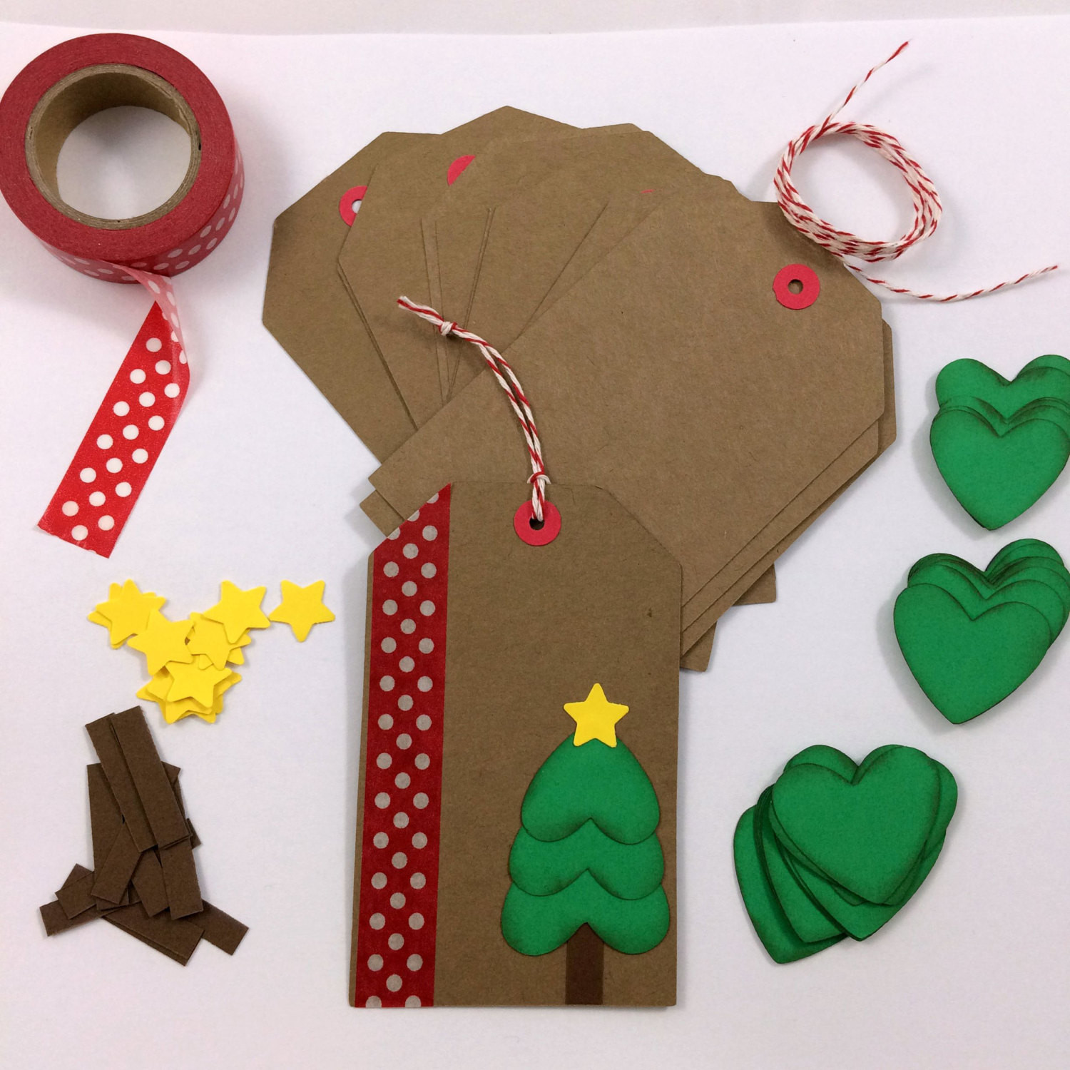 Best ideas about Christmas Gift Tags DIY . Save or Pin DIY Holiday Christmas Gift Tag Kit Makes 12 by Bump Knowledge Now.