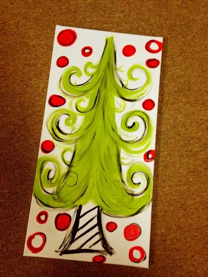 Best ideas about Christmas Painting Ideas . Save or Pin 337 best images about Christmas canvas ideas on Pinterest Now.