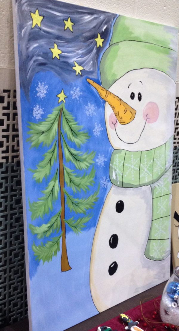Best ideas about Christmas Painting Ideas . Save or Pin 15 Easy Canvas Painting Ideas for Christmas 2017 Now.