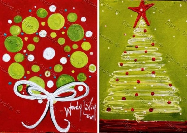 Best ideas about Christmas Painting Ideas . Save or Pin Christmas Canvas Ideas Christmas paintings Now.