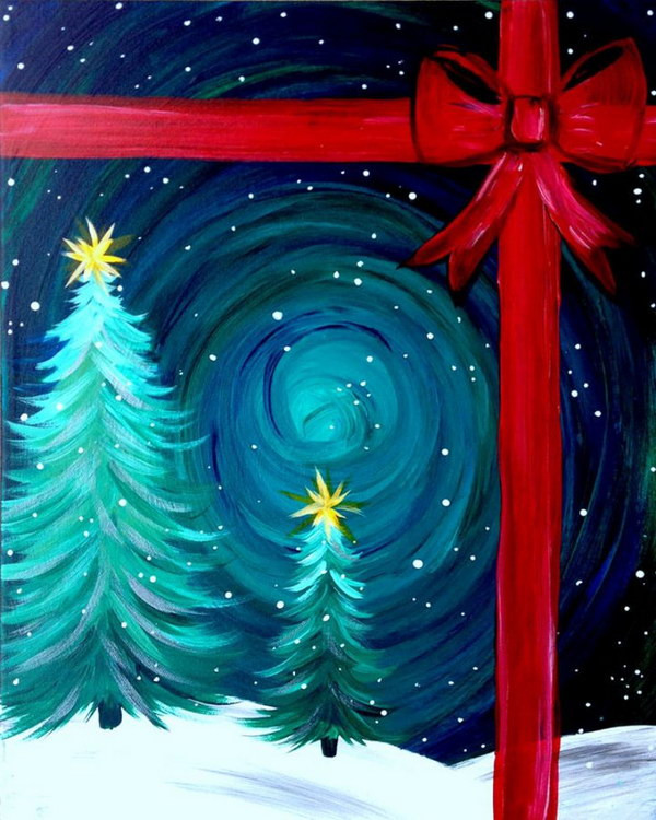 Best ideas about Christmas Painting Ideas . Save or Pin 15 Easy Canvas Painting Ideas for Christmas Noted List Now.