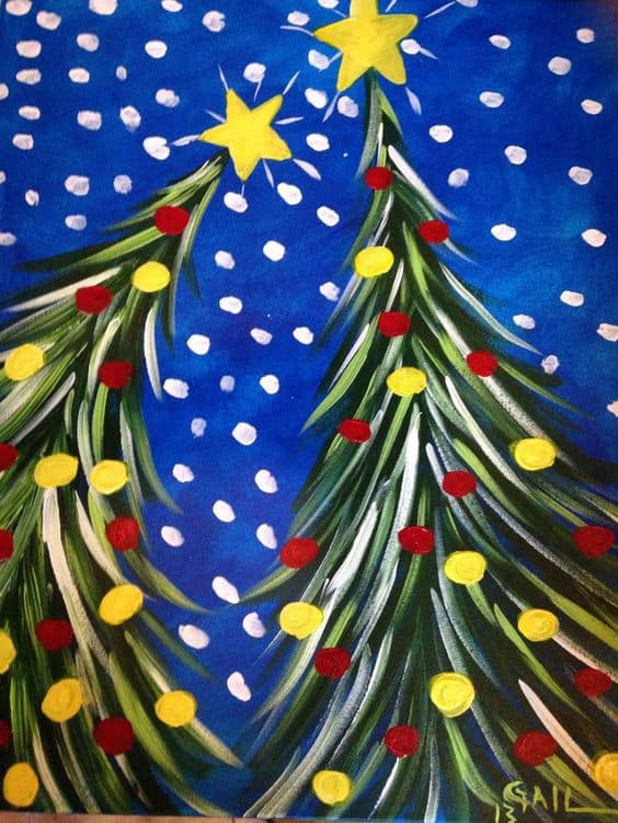 Best ideas about Christmas Painting Ideas . Save or Pin 19 Easy Canvas Painting Ideas To Take Now.