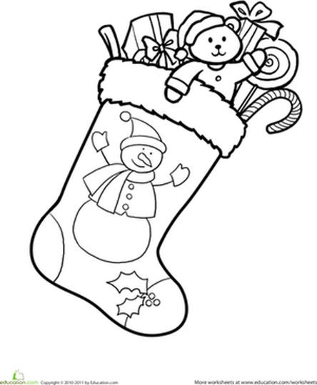 Best ideas about Christmas Stocking Coloring Sheets For Kids . Save or Pin Christmas Stocking Coloring Pages For Kids Part 2 Now.