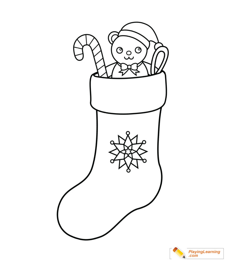 Best ideas about Christmas Stocking Coloring Sheets For Kids . Save or Pin Christmas Stocking Coloring Page 07 Now.