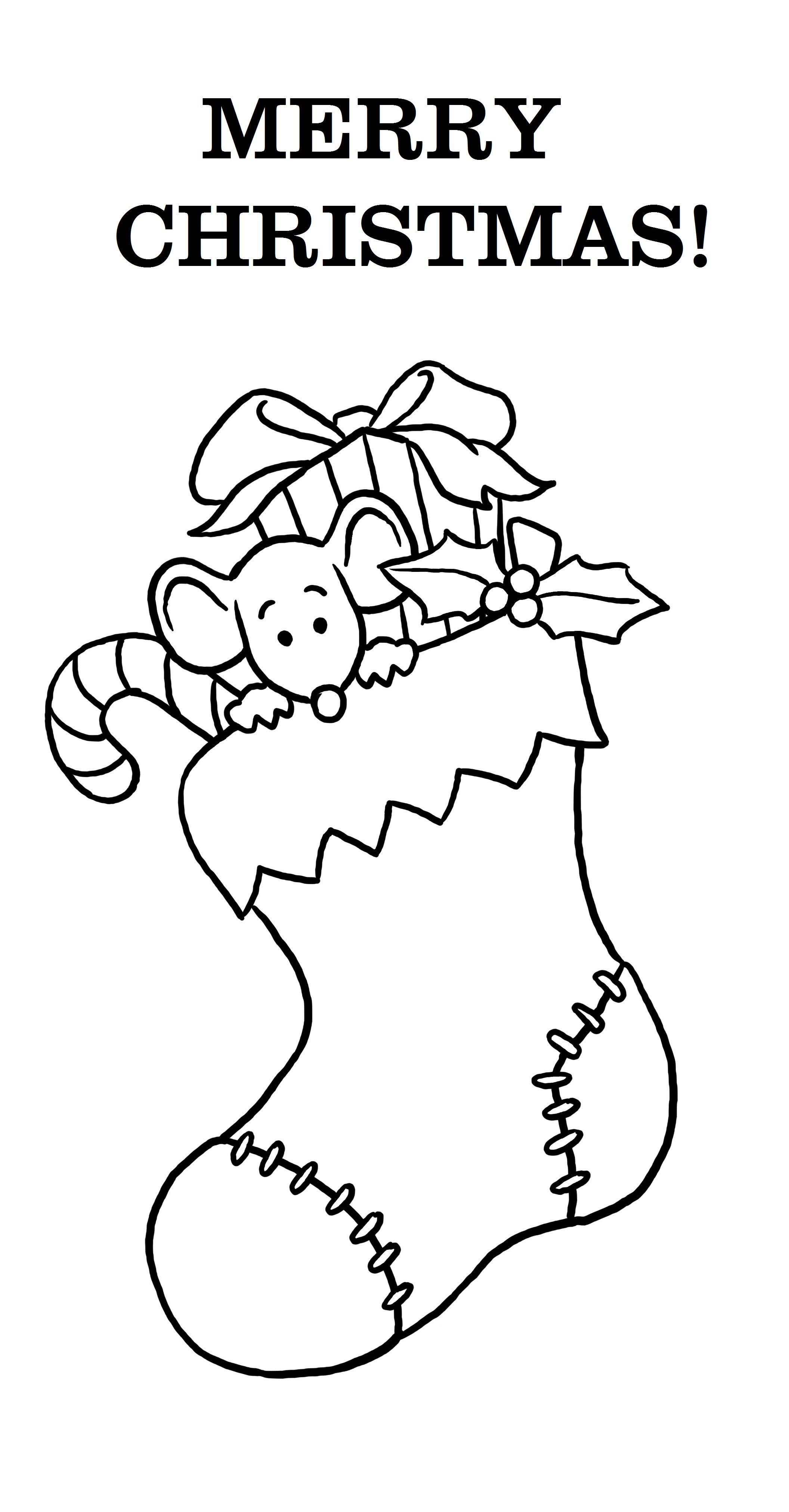 Best ideas about Christmas Stocking Coloring Sheets For Kids . Save or Pin Free Printable Merry Christmas Coloring Pages Now.