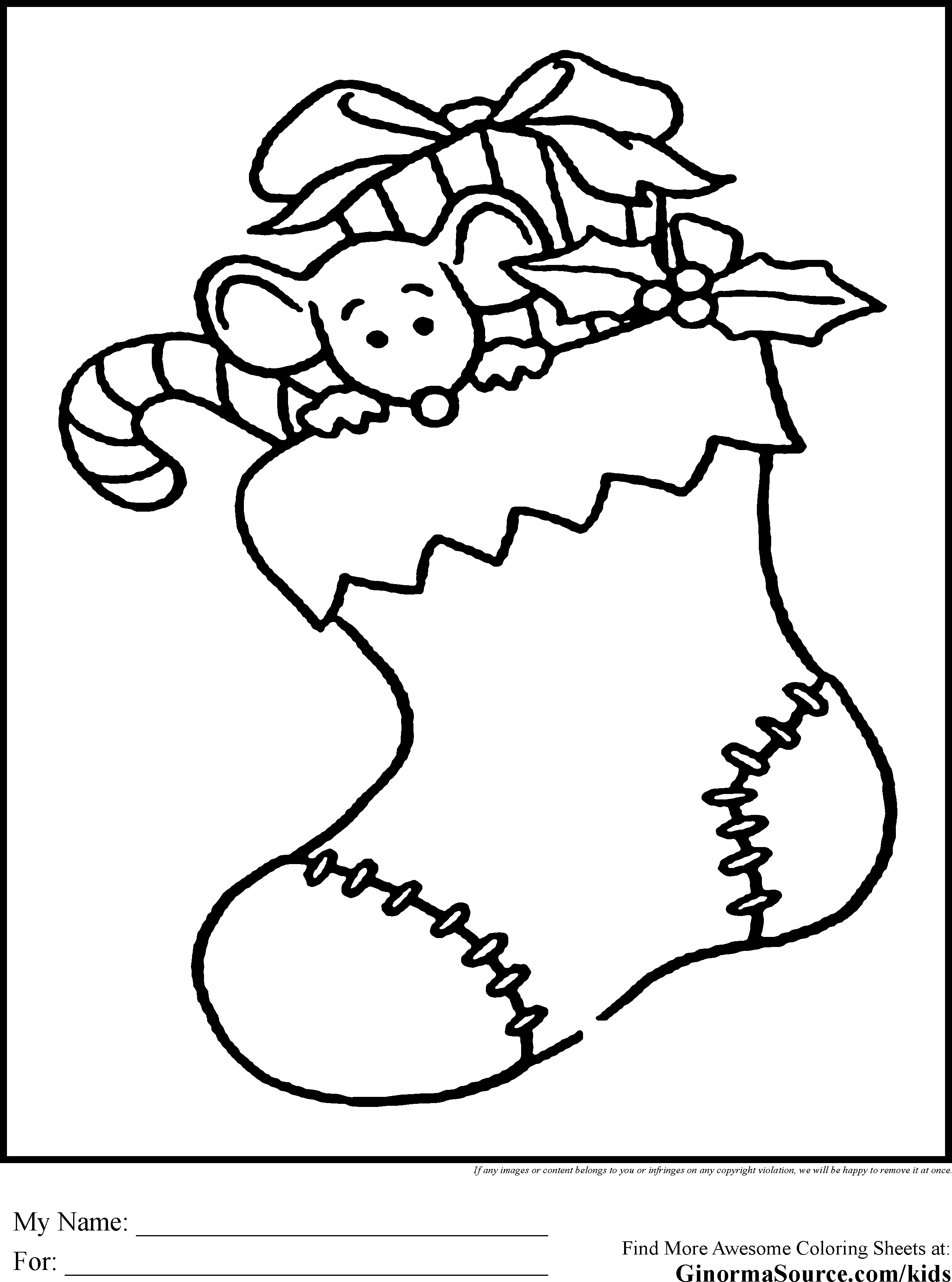 Best ideas about Christmas Stocking Coloring Sheets For Kids . Save or Pin Christmas Coloring Pages for Kids GINORMAsource Kids Now.