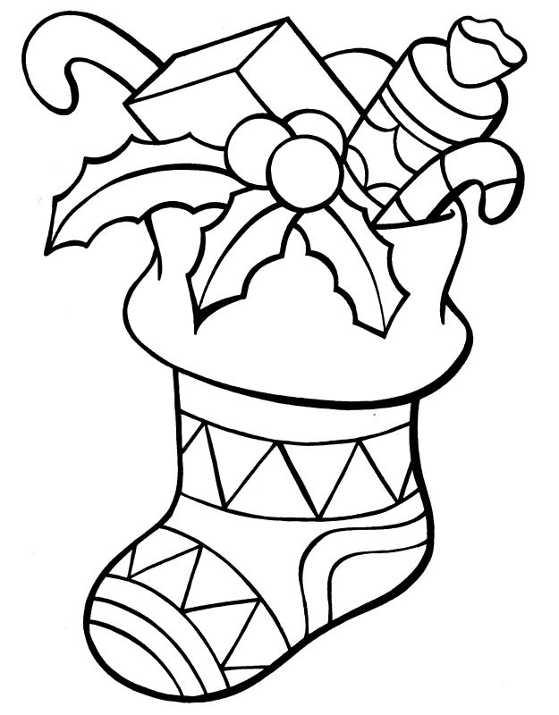 Best ideas about Christmas Stocking Coloring Sheets For Kids . Save or Pin Christmas Stocking Coloring Pages Best Coloring Pages Now.