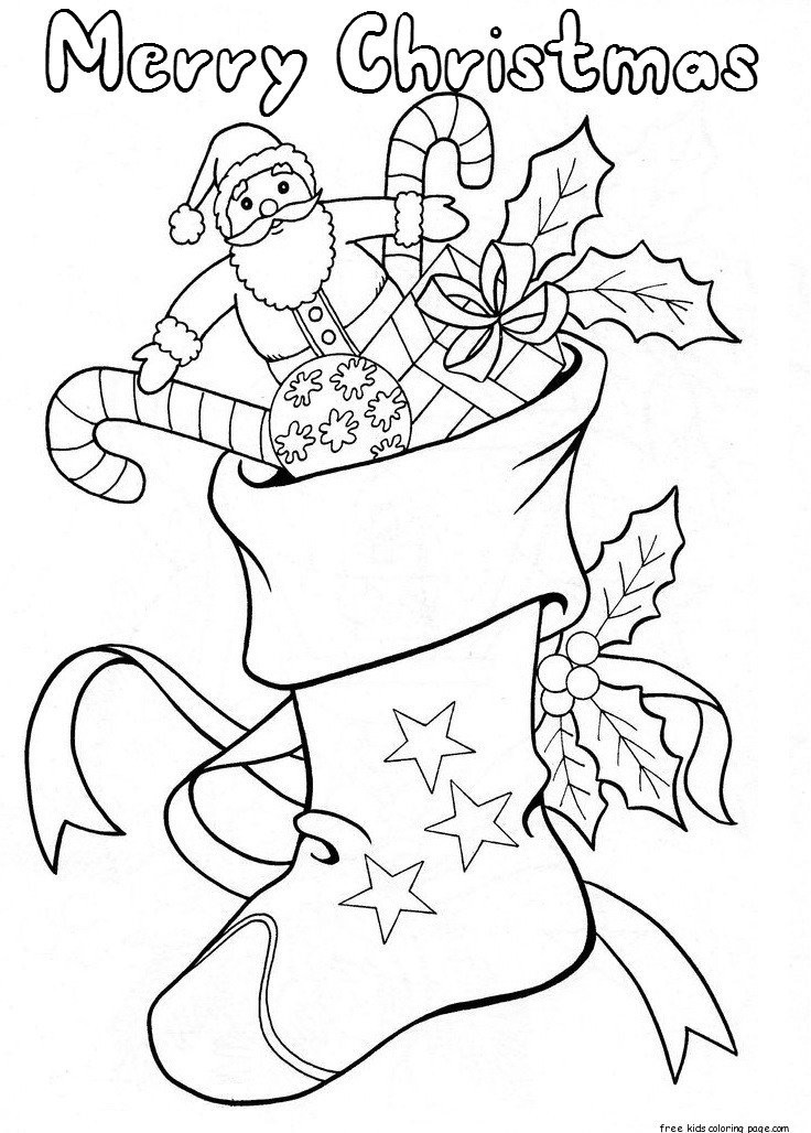Best ideas about Christmas Stocking Coloring Sheets For Kids . Save or Pin christmas stockings with candy and toys coloring pages Now.