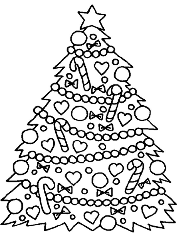 Best ideas about Christmas Tree Coloring Pages For Kids . Save or Pin Christmas Tree Ornaments Coloring Pages AZ Coloring Pages Now.