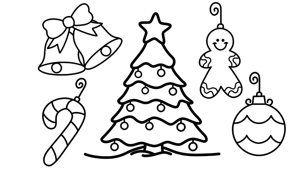 Best ideas about Christmas Tree Coloring Pages For Kids . Save or Pin How to Draw Christmas Tree and Decorations for Kids Now.