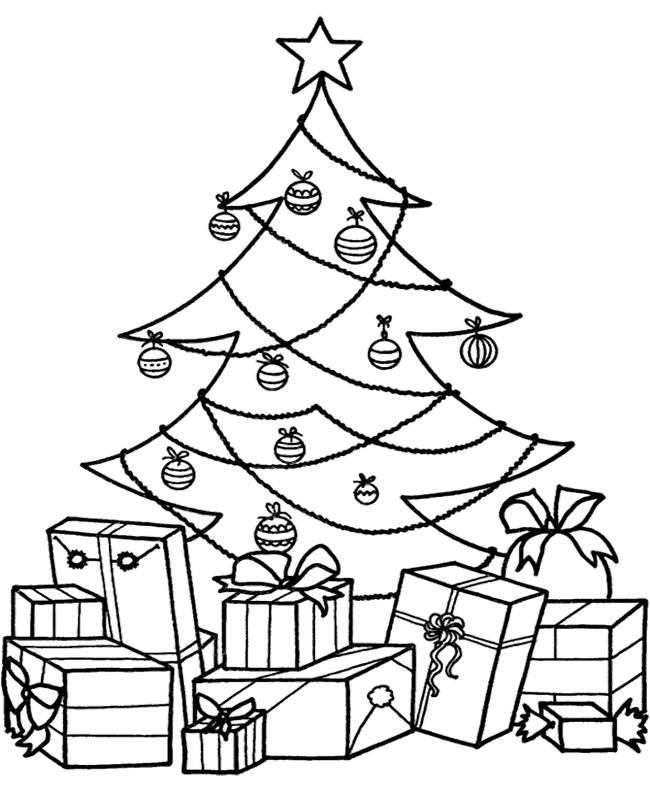 Best ideas about Christmas Tree Coloring Pages For Kids . Save or Pin Christmas Tree Coloring Pages Now.