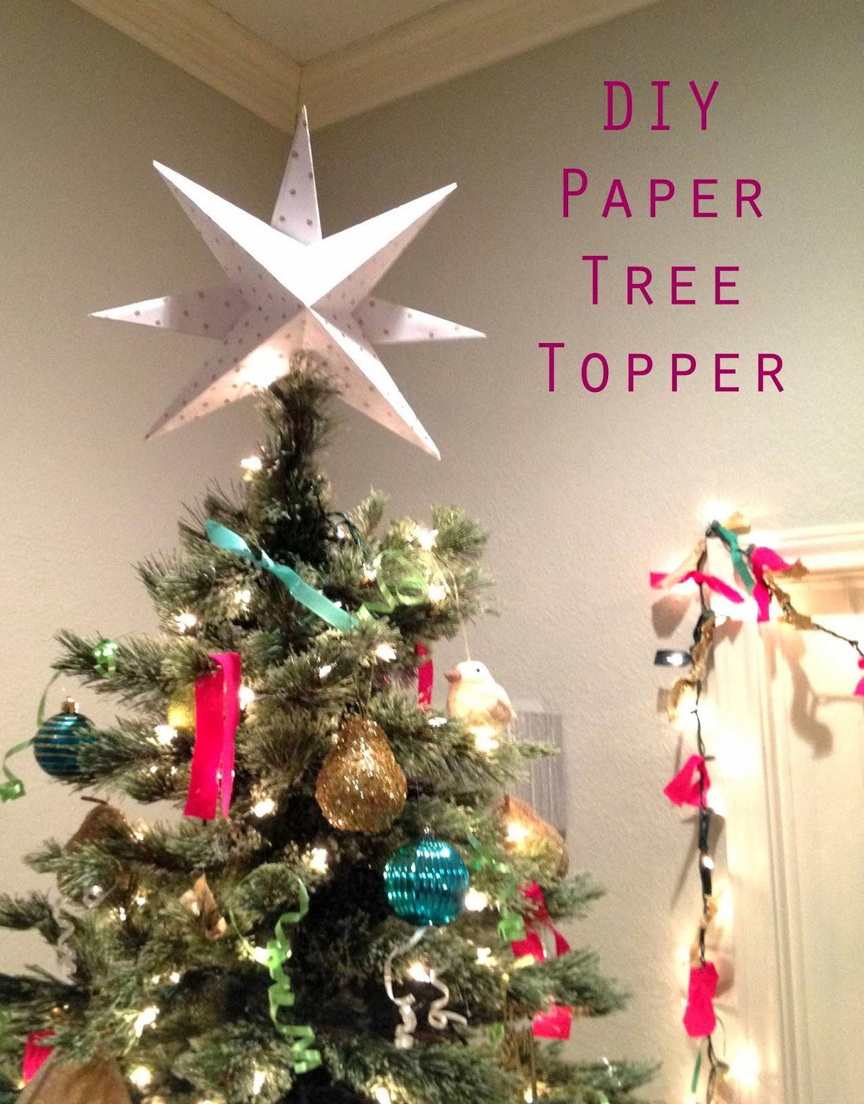 Best ideas about Christmas Tree Topper DIY . Save or Pin The Happy Homebo s DIY Paper Star Christmas Tree Topper Now.