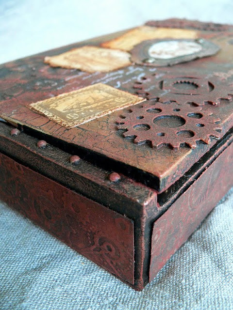 Best ideas about Cigar Box Craft Ideas . Save or Pin Von Pappe II Altered Cigar Box Nr 3 a tutorial Now.