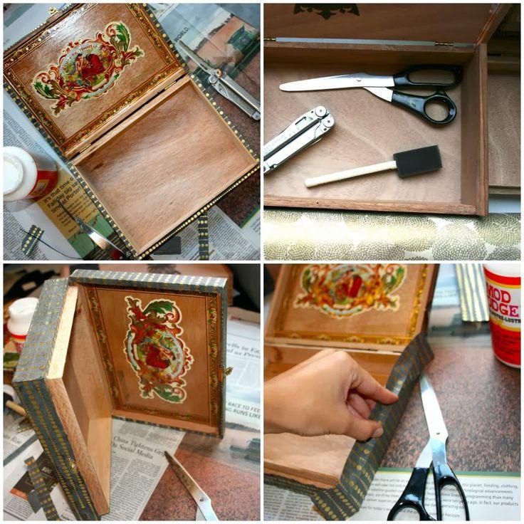 Best ideas about Cigar Box Craft Ideas . Save or Pin Oy Noel DIY Cigar Box Jewelry Box Oy Now.