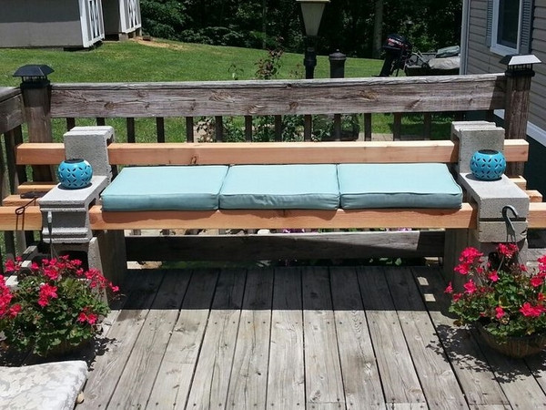 Best ideas about Cinder Block Bench DIY . Save or Pin DIY cinder block bench in the garden creative ideas for Now.
