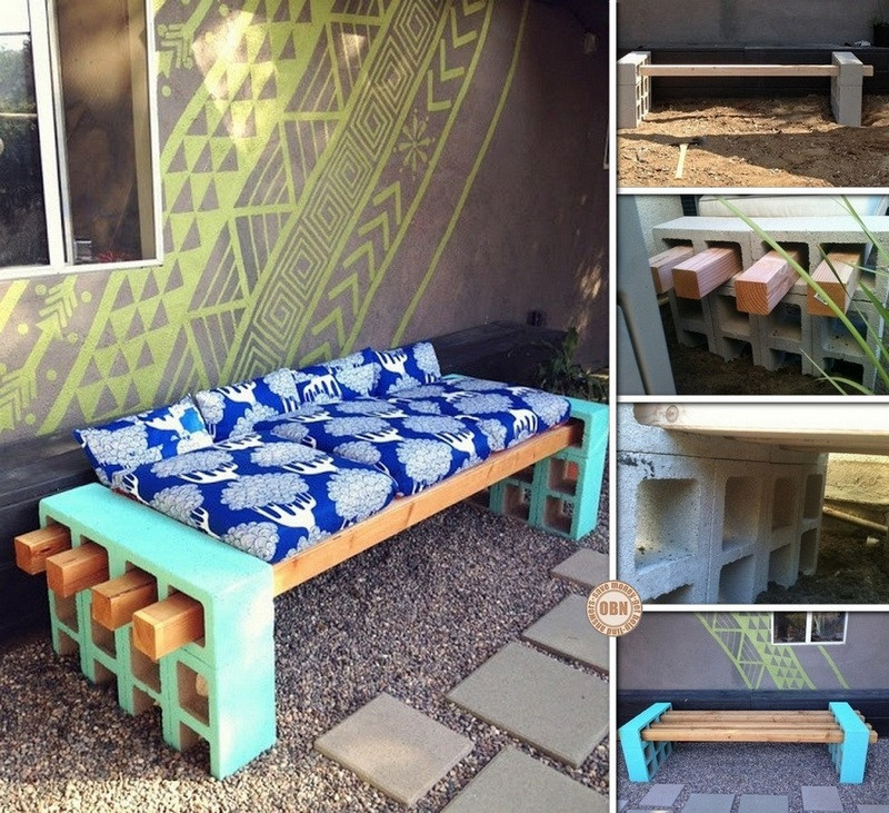 Best ideas about Cinder Block Bench DIY . Save or Pin DIY Cinder Block Outdoor Bench Now.