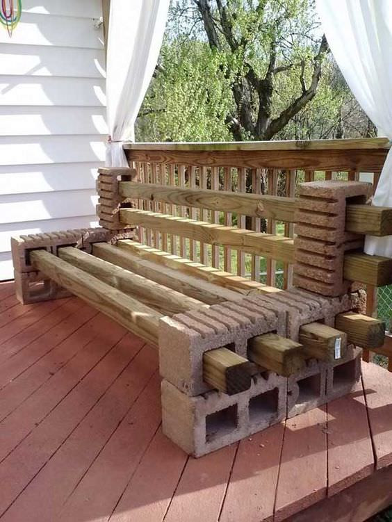 Best ideas about Cinder Block Bench DIY . Save or Pin How to Make a Bench from Cinder Blocks 10 Amazing Ideas Now.