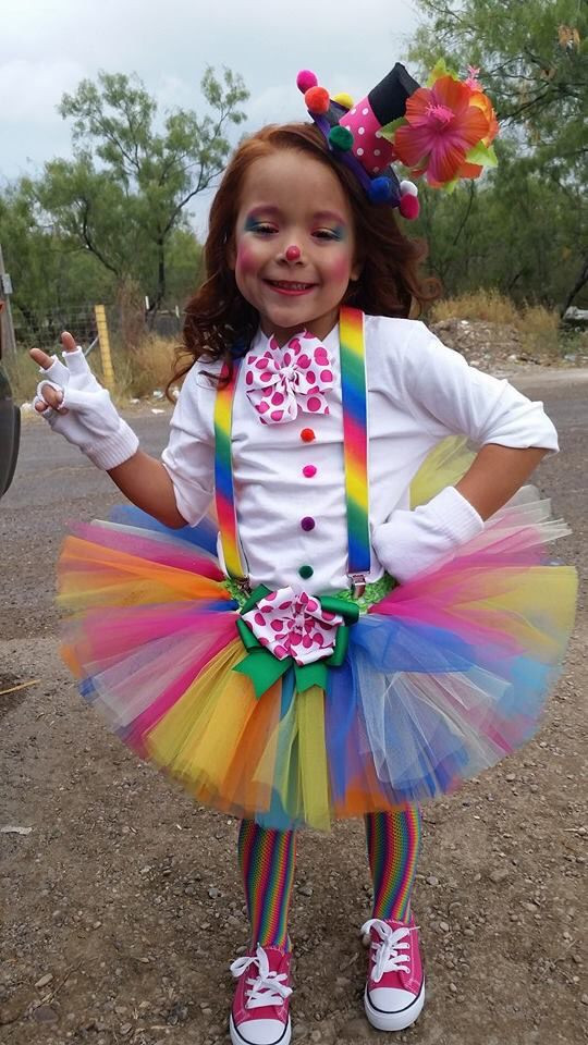 Best ideas about Circus Costumes DIY . Save or Pin Little girls clown costume Now.