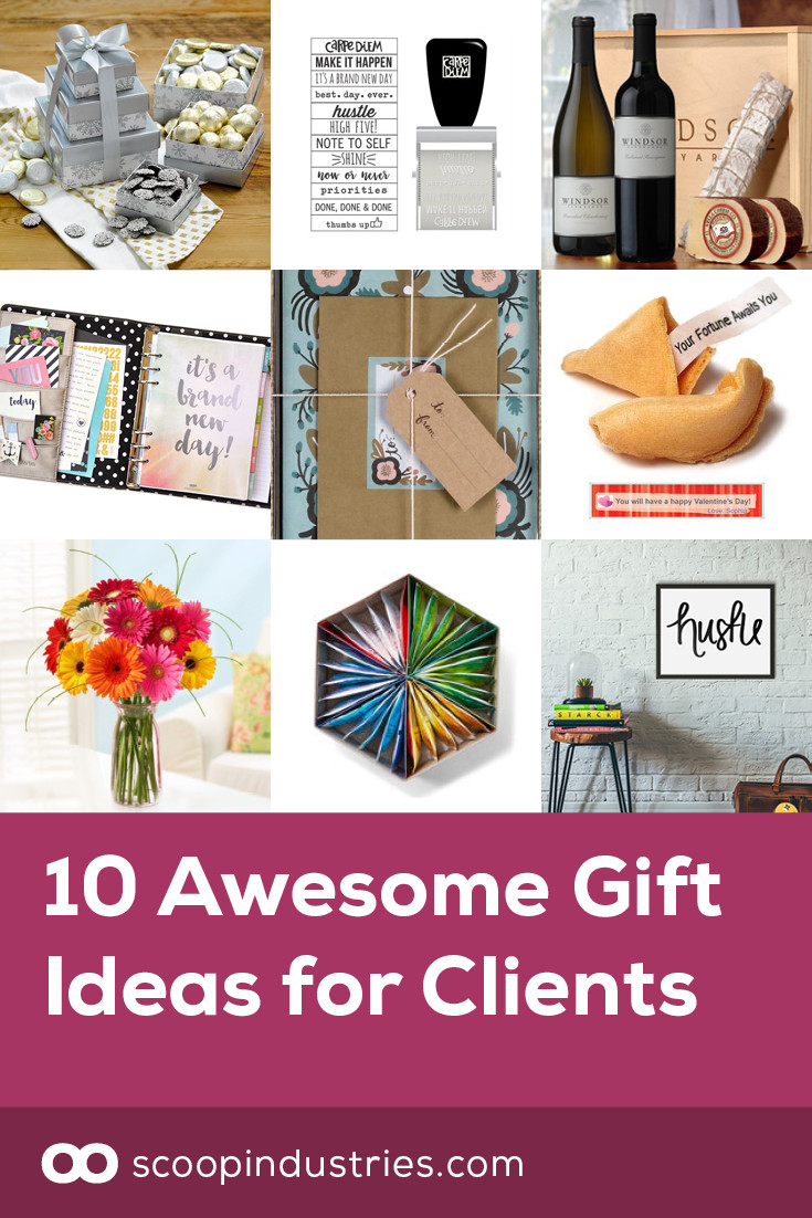 Best ideas about Client Gift Ideas . Save or Pin 10 Awesome Gift Ideas for Clients Scoop Industries Now.