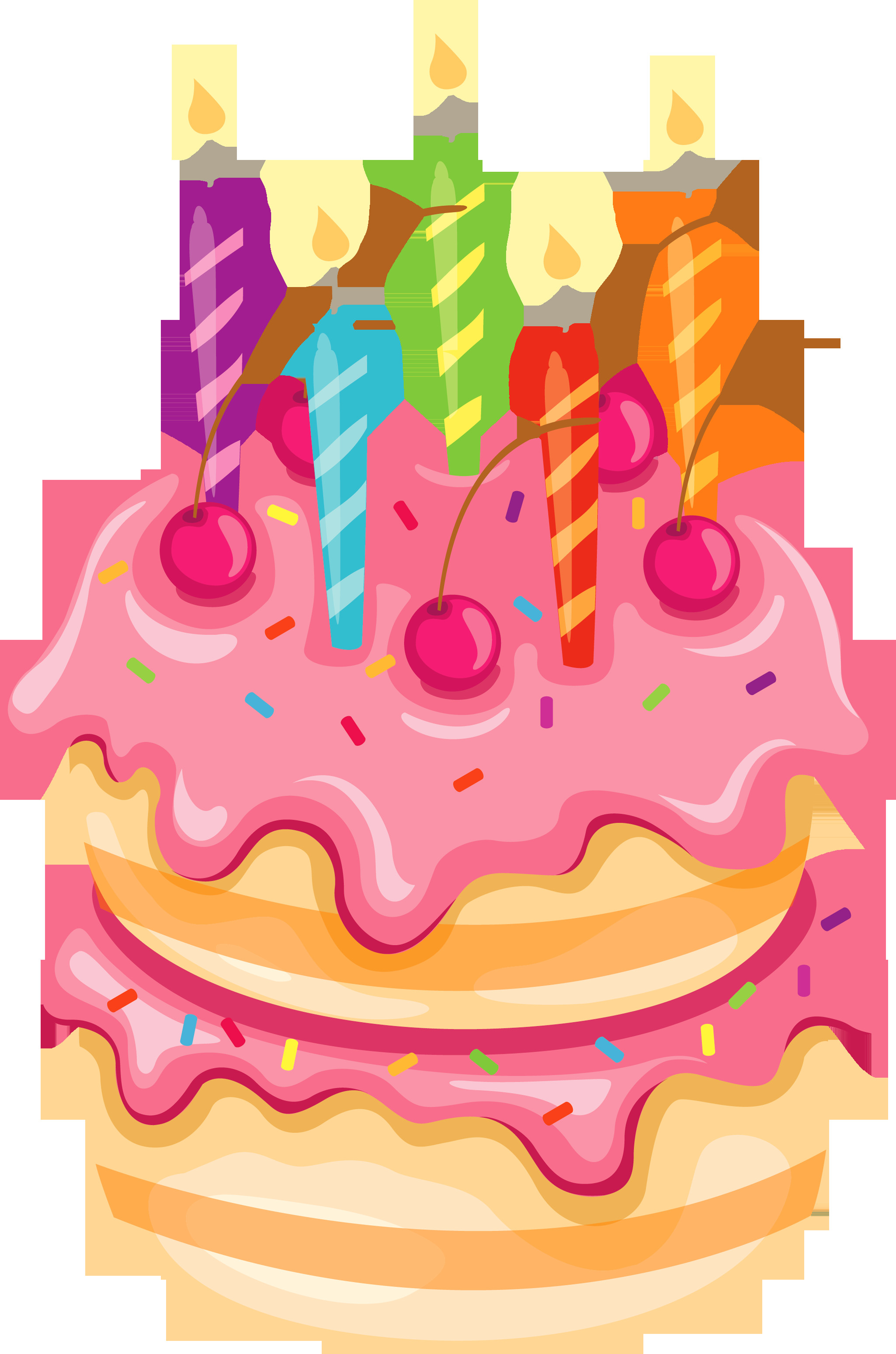 Best ideas about Clipart Birthday Cake . Save or Pin Pink Cake with Candles PNG Clipart Now.