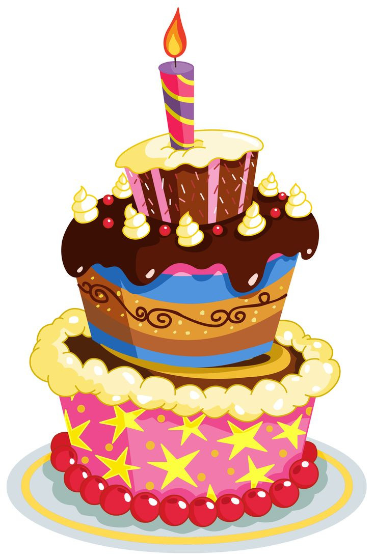 Best ideas about Clipart Birthday Cake . Save or Pin Colorful Birthday Cake PNG Clipart Now.
