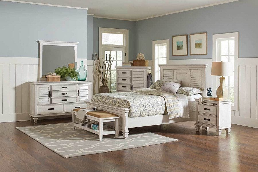 Best ideas about Coastal Bedroom Furniture . Save or Pin Franco Collection Coastal Bedroom set in White with Grey Now.
