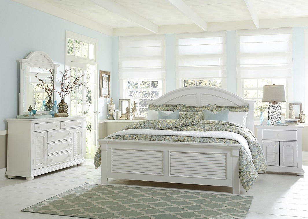 Best ideas about Coastal Bedroom Furniture . Save or Pin White Bed Coastal Look Now.