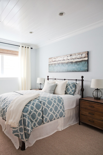 Best ideas about Coastal Bedroom Ideas . Save or Pin Coastal Luxe Beach Style Bedroom Orange County by Now.