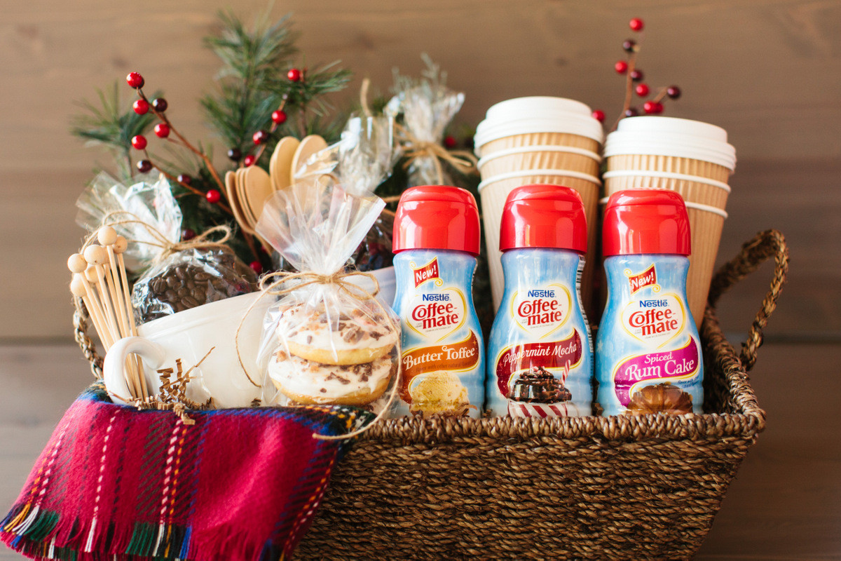Best ideas about Coffee Gift Basket Ideas . Save or Pin Coffee Holiday Gift Basket… Now.