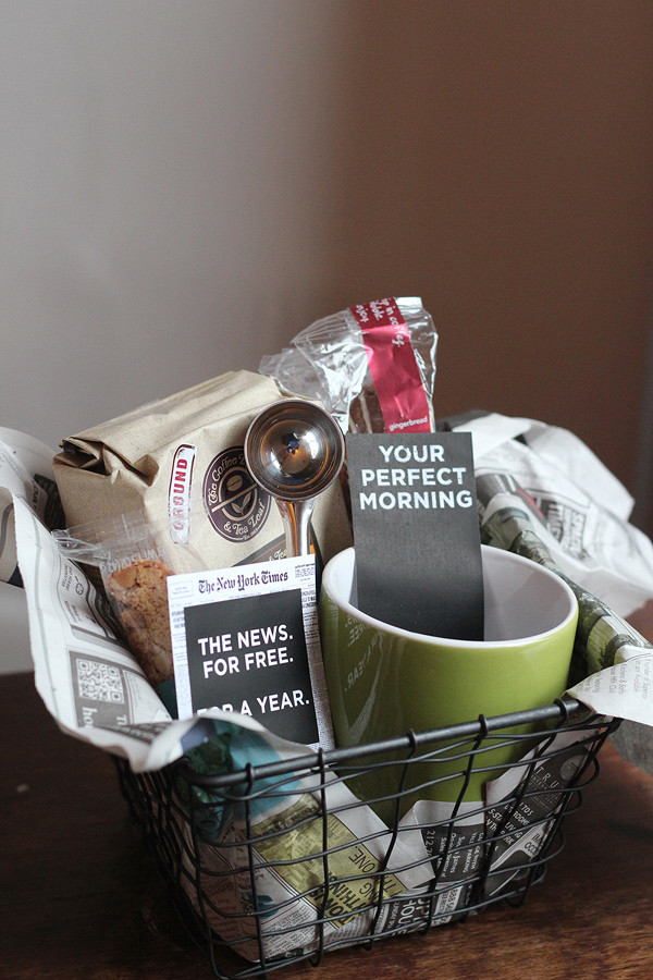 Best ideas about Coffee Gift Basket Ideas . Save or Pin 10 Gorgeous DIY Gift Basket Ideas Now.