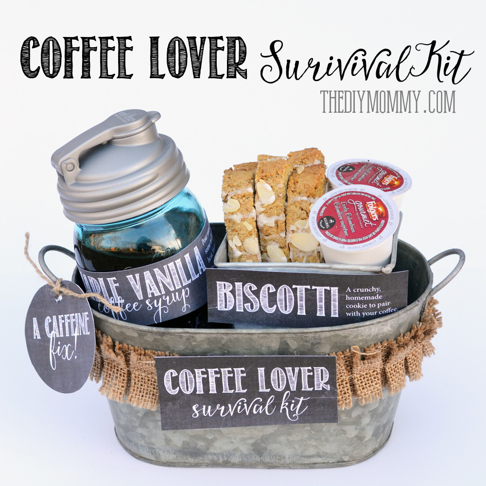 Best ideas about Coffee Gift Basket Ideas . Save or Pin A Gift in a Tin Coffee Lover Survival Kit Now.