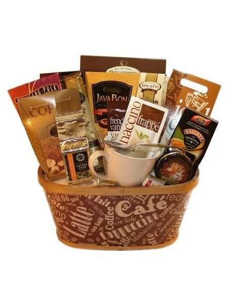 Best ideas about Coffee Gift Basket Ideas . Save or Pin Coffee Gift Baskets Favors and Goo Bags Now.