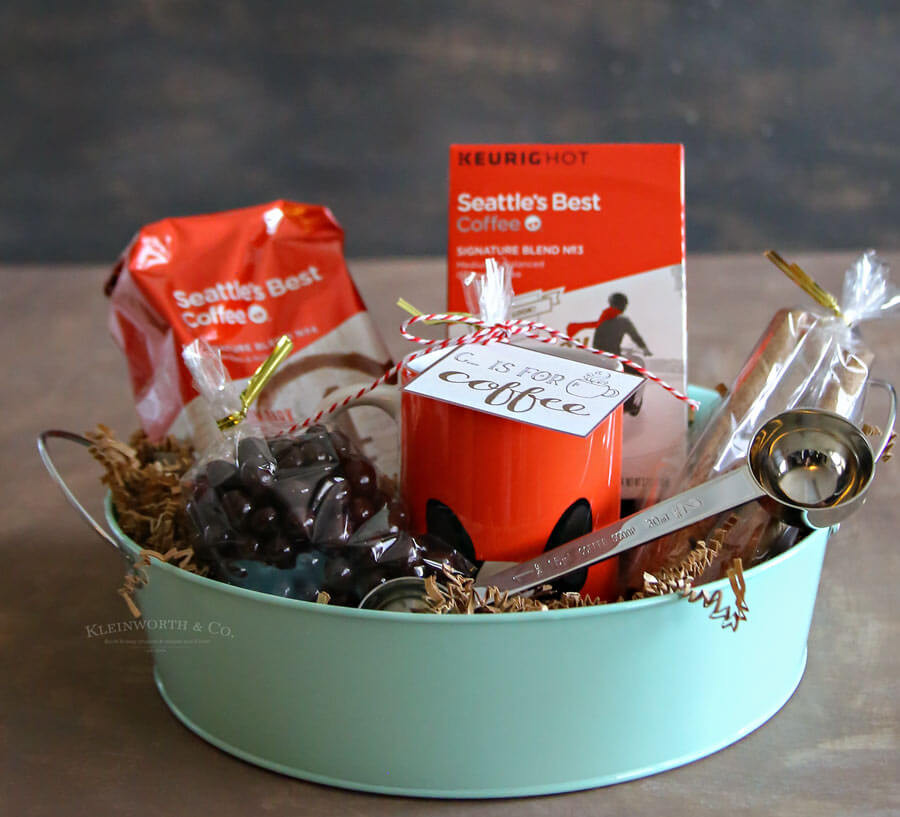 Best ideas about Coffee Gift Basket Ideas . Save or Pin Coffee Gift Basket Idea Kleinworth & Co Now.