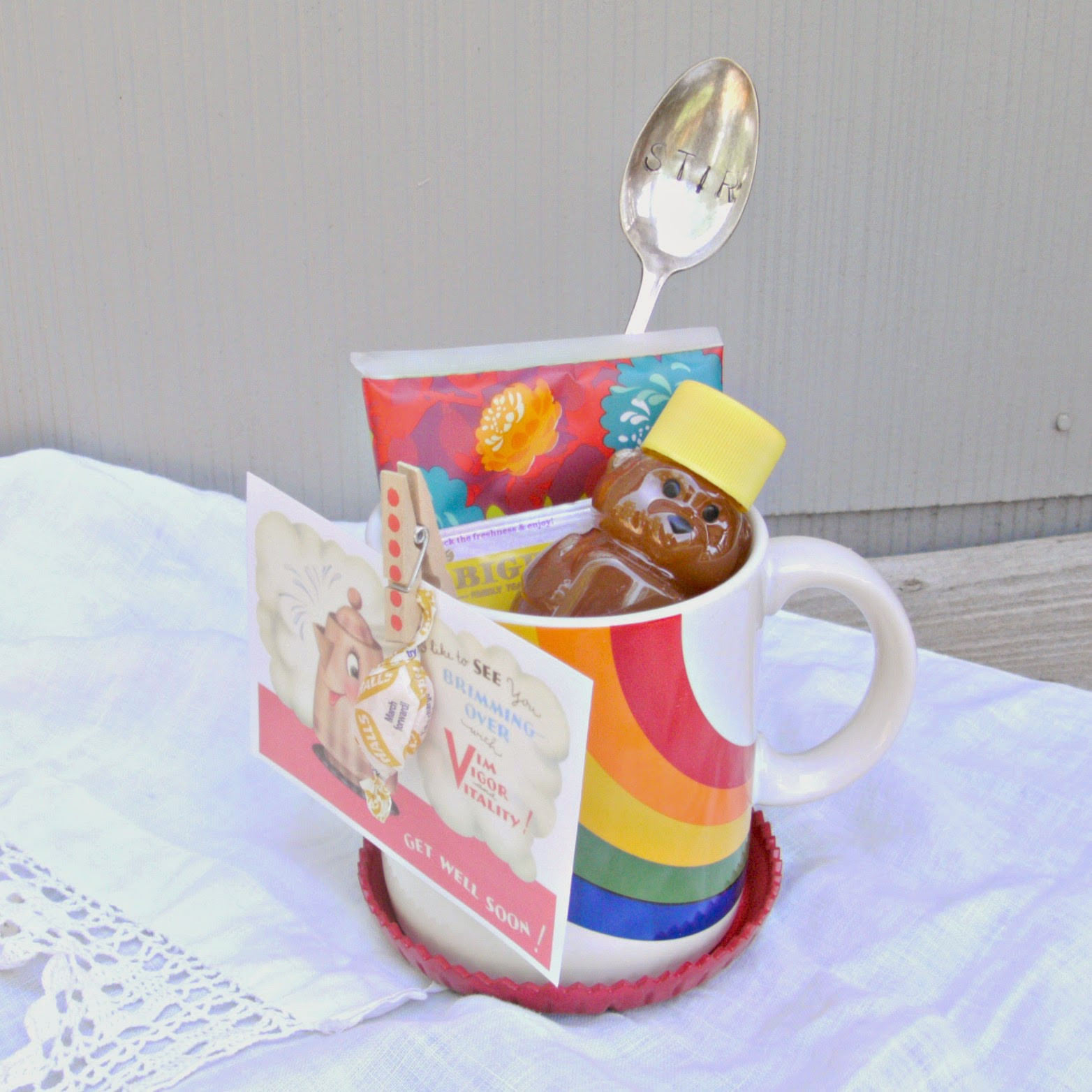 Best ideas about Coffee Mug Gift Ideas . Save or Pin DIY Coffee Mug Gift Baskets Little Vintage Cottage Now.