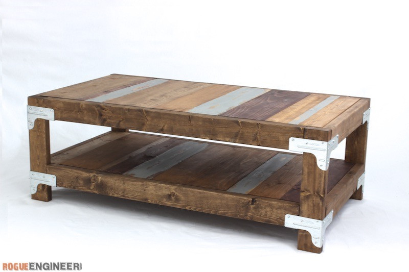 Best ideas about Coffee Table Plans . Save or Pin Industrial Coffee Table Free DIY Plans  Rogue Engineer Now.