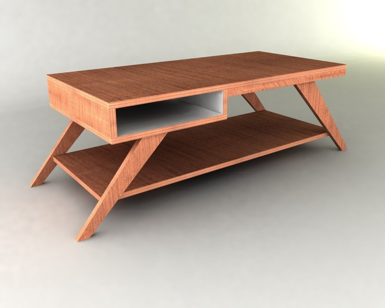 Best ideas about Coffee Table Plans . Save or Pin Retro Modern Eames style Coffee Table Furniture Plan Now.