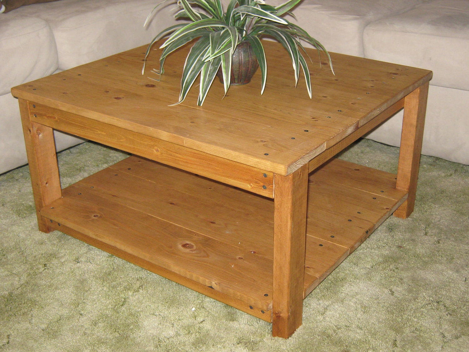 Best ideas about Coffee Table Plans . Save or Pin DIY PLANS to make Square Wooden Coffee Table by wingstoshop Now.
