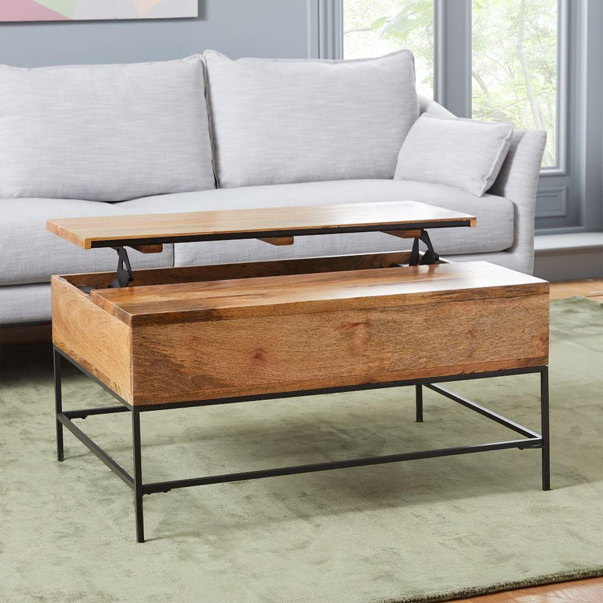 Best ideas about Coffee Table With Storage . Save or Pin Industrial Storage Coffee Table Small 91 cm Now.