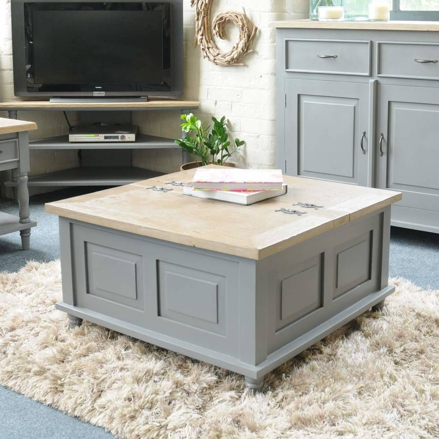 Best ideas about Coffee Table With Storage . Save or Pin Storage Trunk Coffee Table Grey Antique White in 2019 Now.