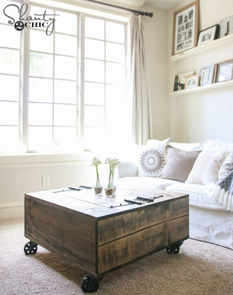 Best ideas about Coffee Table With Storage . Save or Pin DIY Storage Coffee Table & Video Tutorial Now.