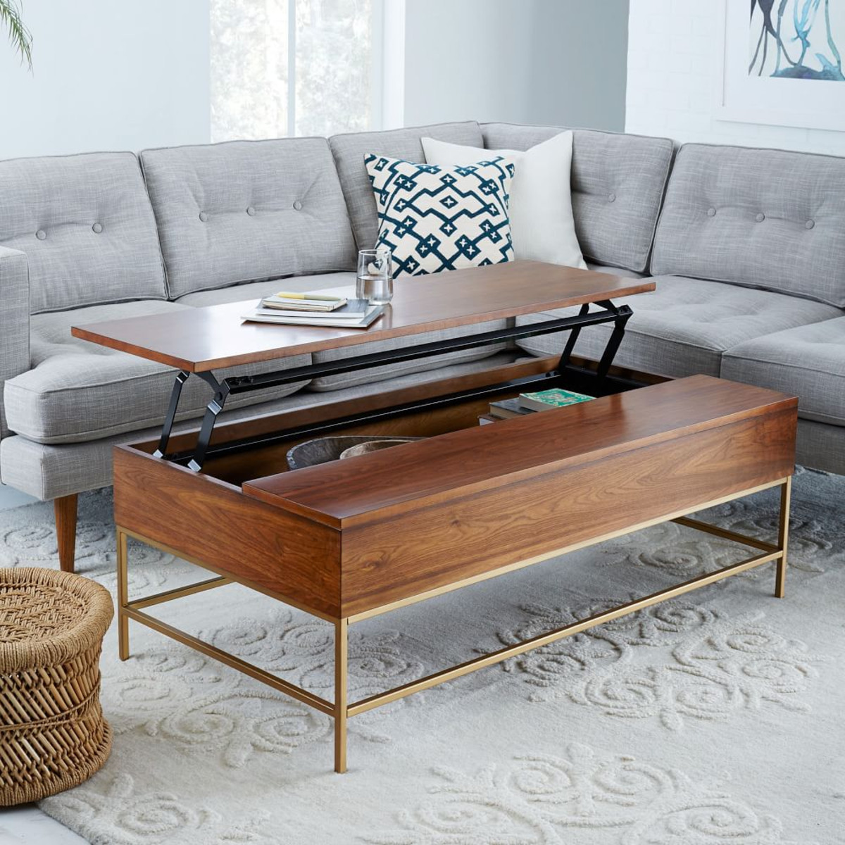 Best ideas about Coffee Table With Storage . Save or Pin 8 Best Coffee Tables For Small Spaces Now.