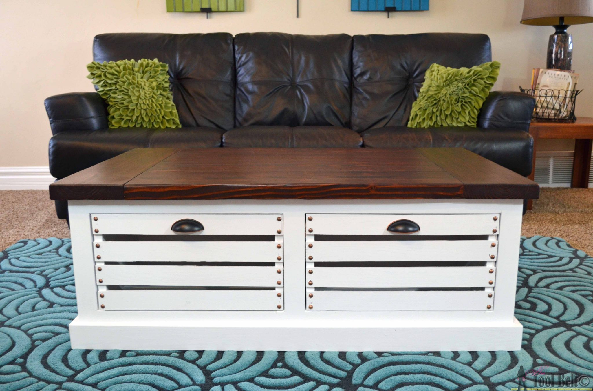 Best ideas about Coffee Table With Storage . Save or Pin Crate Storage Coffee Table and Stools Her Tool Belt Now.