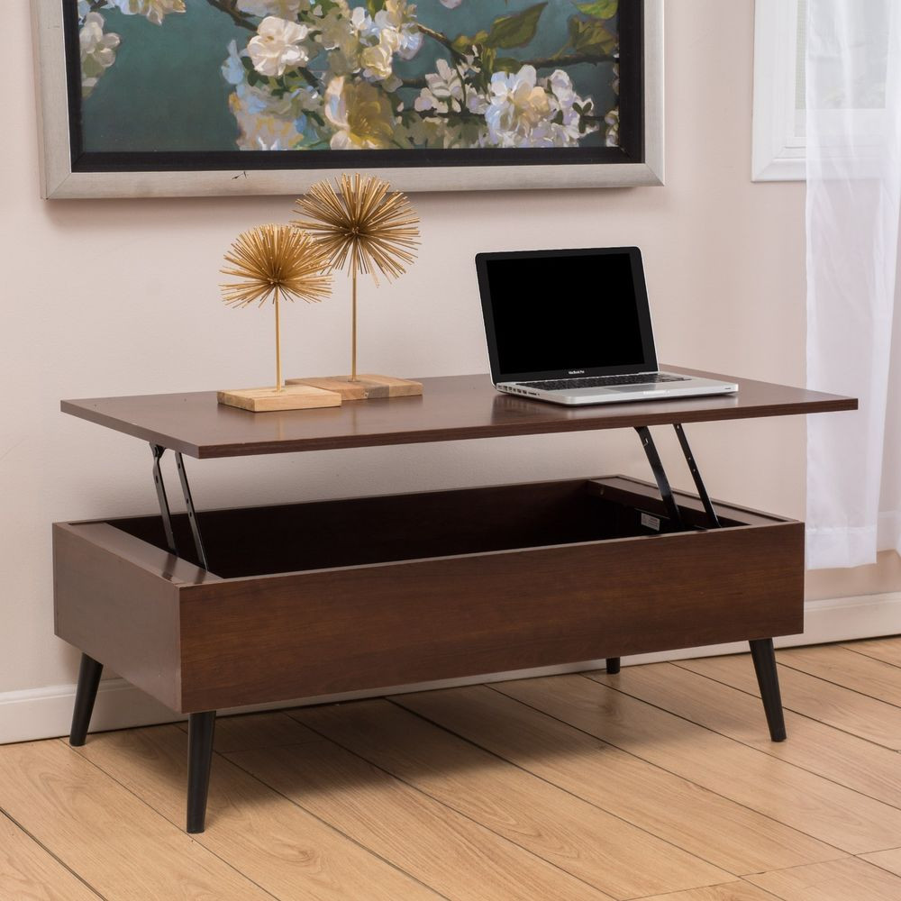 Best ideas about Coffee Table With Storage . Save or Pin Living Room Furniture Mid Century Mahogany Wood Lift Top Now.