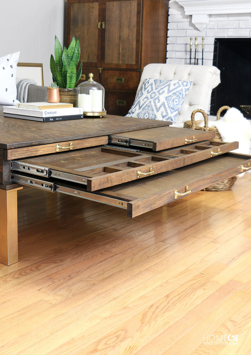 Best ideas about Coffee Tables With Storage . Save or Pin DIY Coffee Table With Pullouts Home Made By Carmona Now.