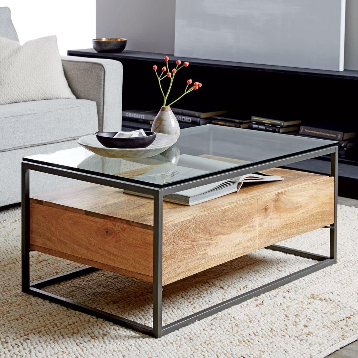 Best ideas about Coffee Tables With Storage . Save or Pin Box Frame Storage Coffee Table Now.
