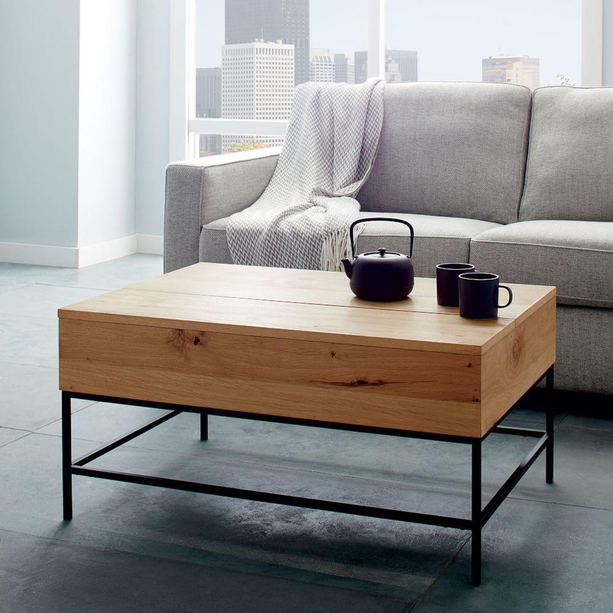 Best ideas about Coffee Tables With Storage . Save or Pin Industrial Storage Coffee Table Now.