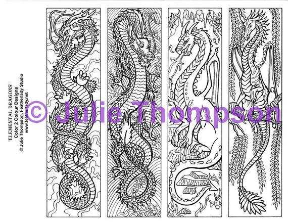 Best ideas about Colorama Free Coloring Pages . Save or Pin DRAGONS Printable colouring coloring bookmarks for all ages Now.
